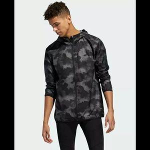 Adidas Own The Run Camo Rain Jacket NEW